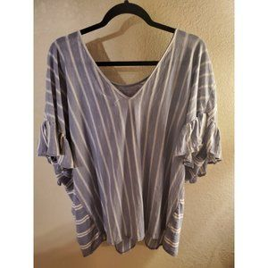 Buckle Brand Lucky Brand Striped Ruffle Top - NWT
